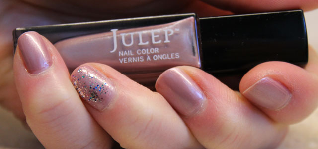 The surprising dusty rose frost nail polish from Julep.
