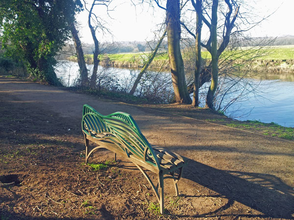 Writing Spaces can be as simple as a bench in a park.