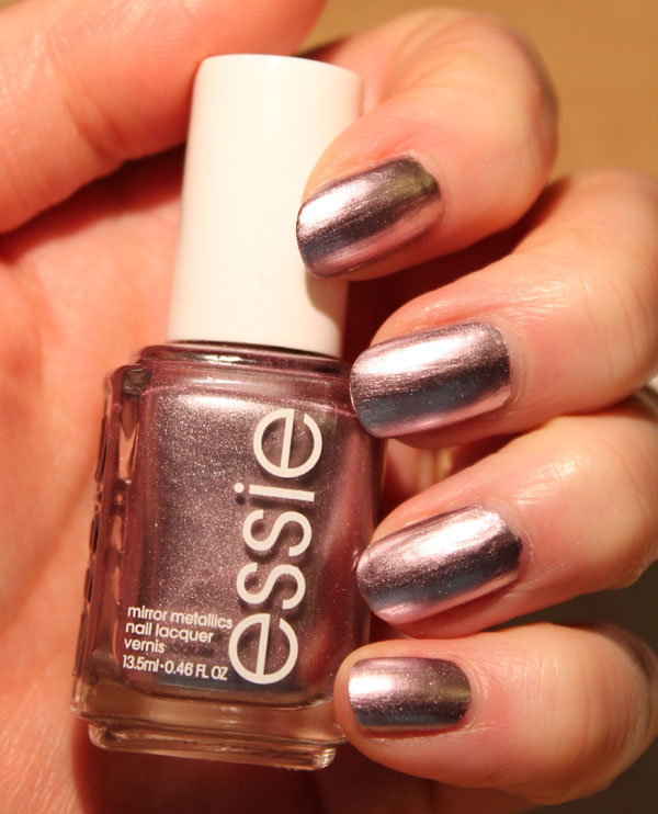 On my nails is Essie's Nothing Else Metals nail polish.