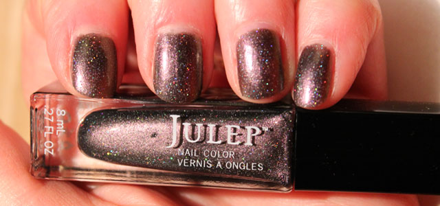 My nails with Julep's Holographic Shimmer called Reece.