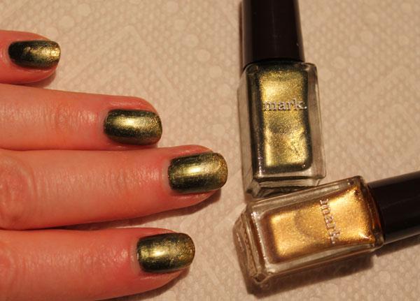 Mint Tea and Saffron nail polish from Avon.