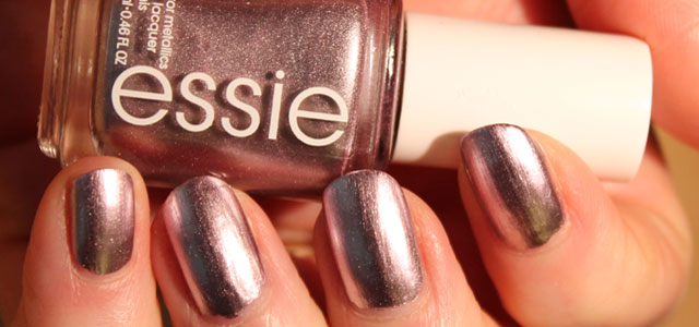 On my nails this Mirror Metallic Nail Polish shows every lump and bump in the nail bed.