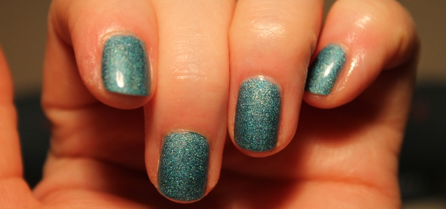 My nails with Avon's Cosmic nail enamel in Galaxy.