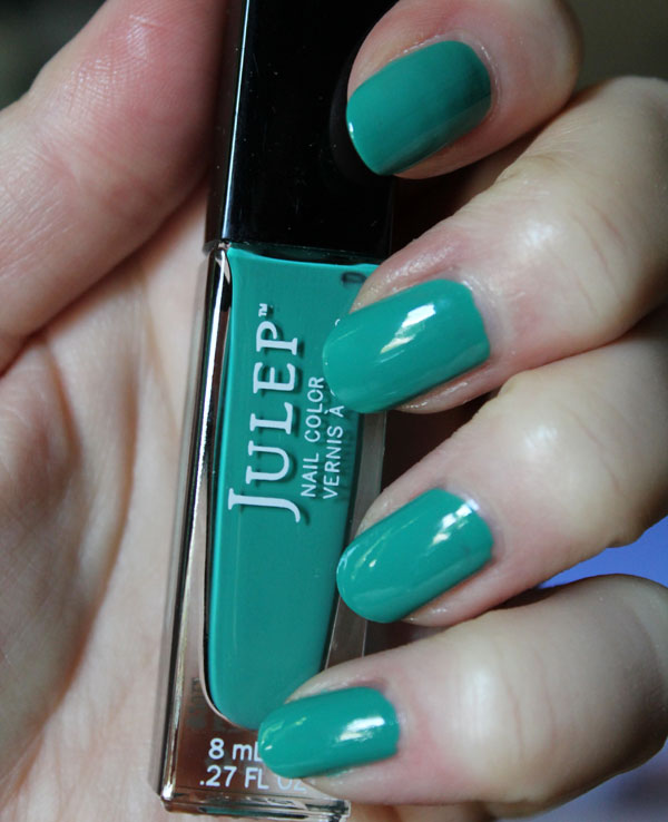 My nails with Emerald City nail polish from Julep.
