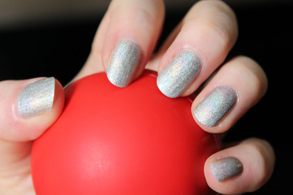 I am in love with this silver Tin Man nail polish.