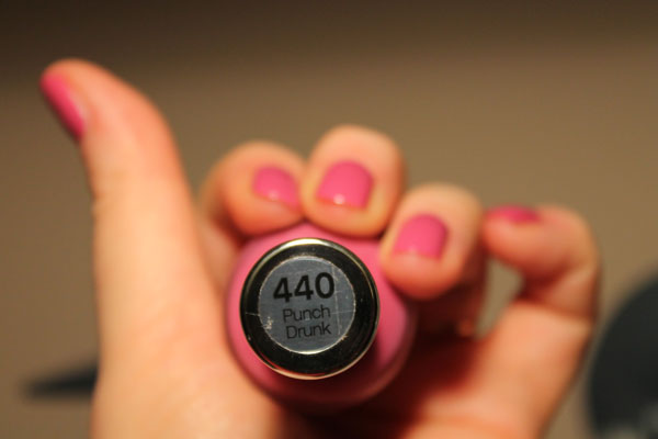 My review of Sally Hansen's Punch Drunk nail polish in 440.