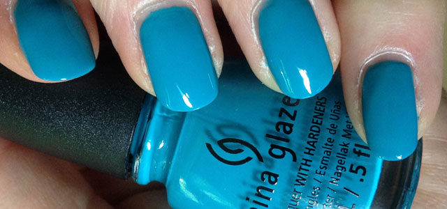 Amazing watercolor blue color from China Glaze.