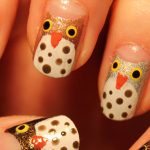 My first attempt at owl nail art.