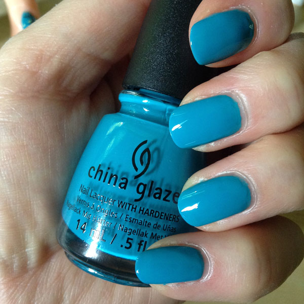 My review of China Glaze Wait N'Sea blue nail polish.