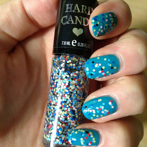 Topped off with a Hard Candy confetti top coat.