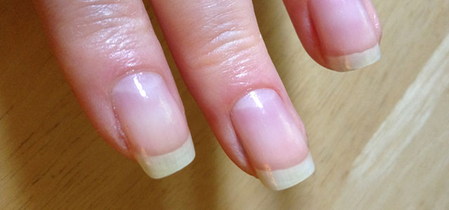 My nails with square tips.