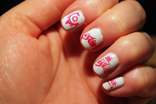 My fourth attempt at using the nail stamp plate.