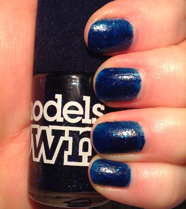 My nails with three coats of Valerian nail polish.