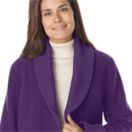 Plus size purple coat from Woman Within.