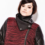 Red and black tiger print coat from Carmakoma.