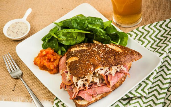 A quick look at Chef's Plate corned beef on a pretzel bun
