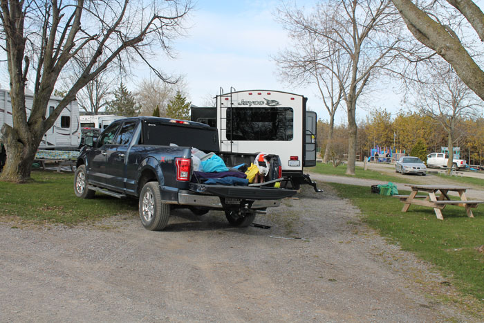 """Pulled into """"pull thru"""" campsite with no problem."""