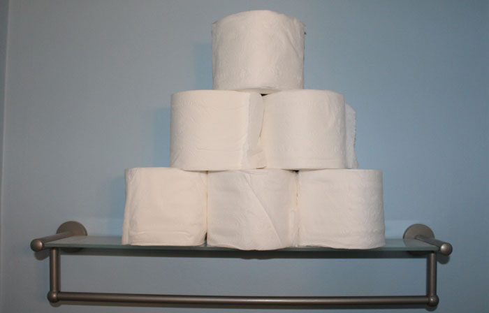 My stockpile of Cottonelle Cashmere toilet paper.