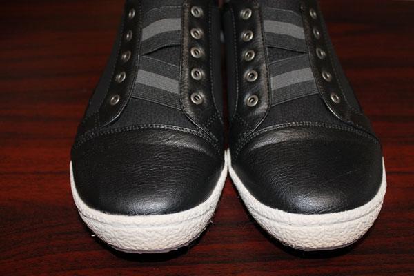 Black pull-on Orthaheel Sneakers.