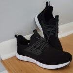 First look of Loom Footwear Waterproof Sneakers in Black out of the box.