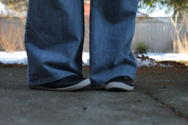 Me and my Sierra pull-on sneakers with jeans.