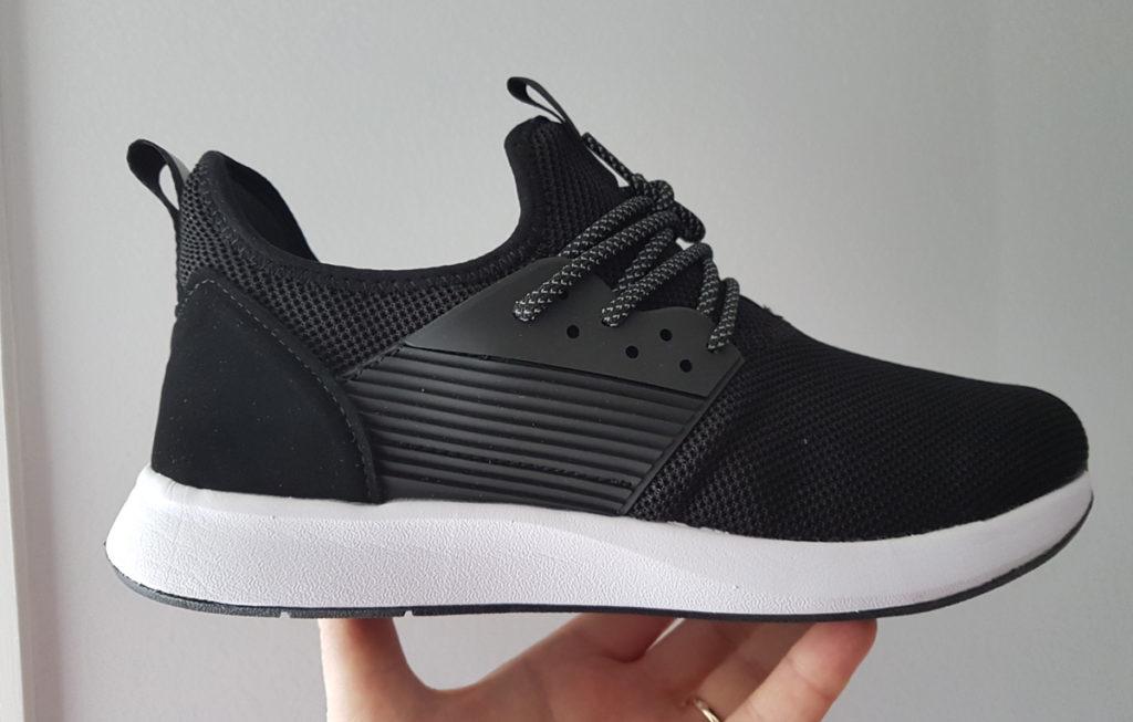 A profile view of the whole Loom Footwear waterproof sneaker.
