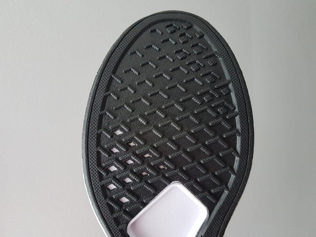 The sole of Loom Footwear sneakers.