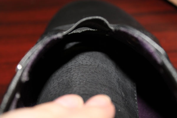 The tongue of the Sierra sneaker.
